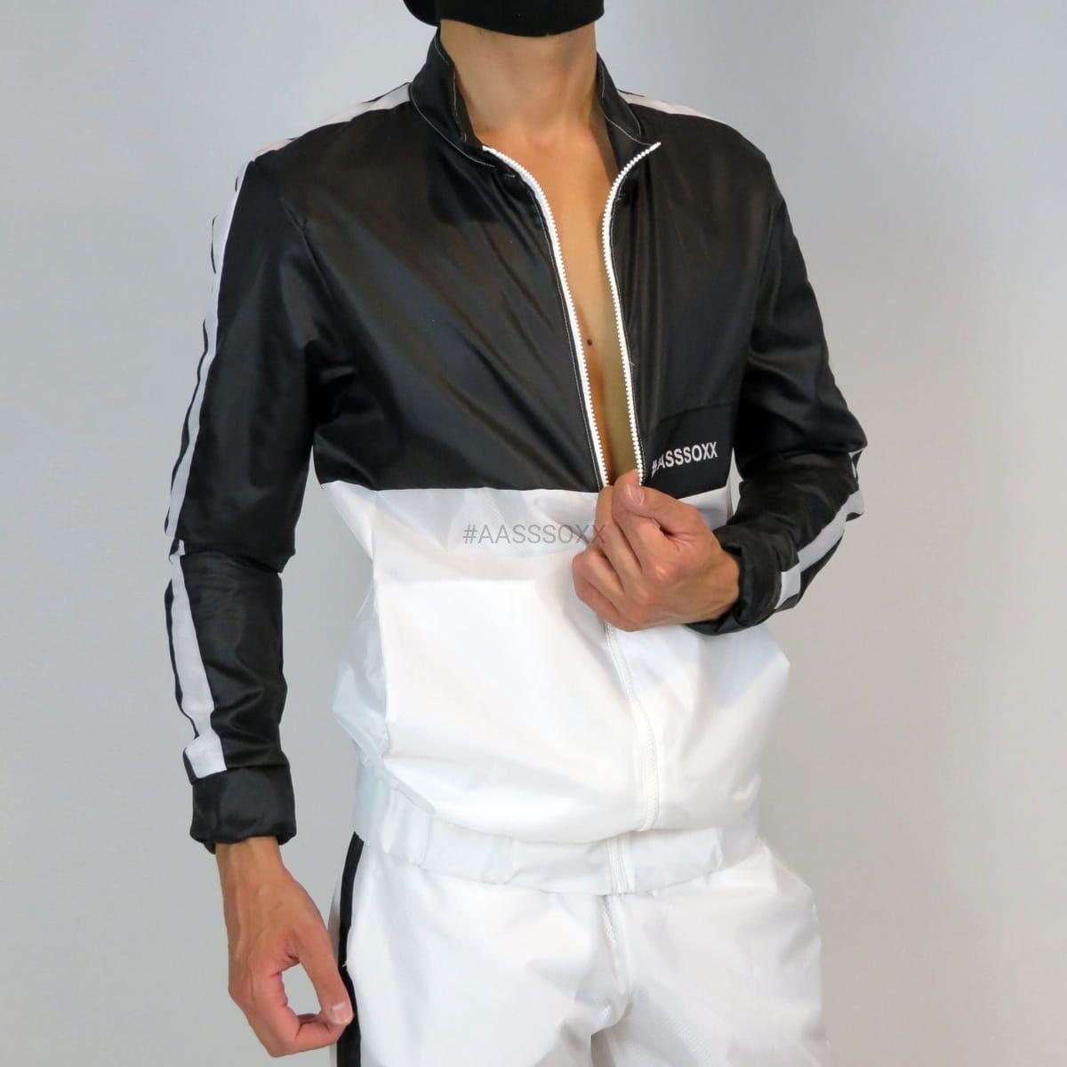 Football Jacket Black And White