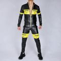 AASSEATER PVC LEATHER PANTS YELLOW8.JPG