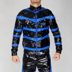 NYLON JACKET SNIFFBOYYY BLACK/BLUE