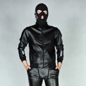 KINKY JACKET WOOOF! REGULAR PVC LEATHER BLACK