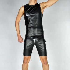 SPORT SLEEVELESS WOOOF! BLACK PVC
