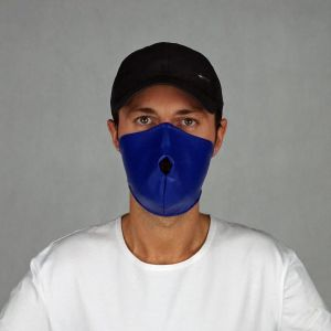 ALPHA MASK PVC LEATHER BLUE