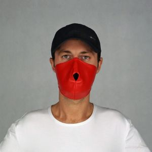 ALPHA MASK PVC LEATHER RED