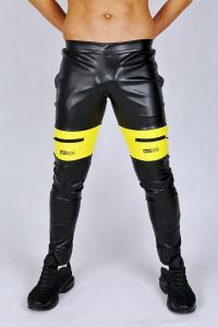 KINKY PANTS AASSEATER BLACK/YELLOW