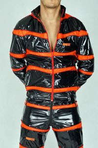 NYLON JACKET SNIFFBOYYY BLACK/ORANGE