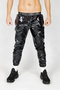 NYLON PANTS ALL SHINY BLACK