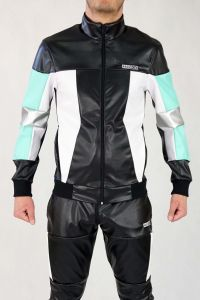 PVC LEATHER JACKET SUPERGEAR