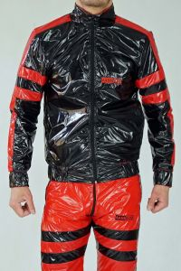 TWO SIDE NYLON JACKET SMELLZONE RED BLACK