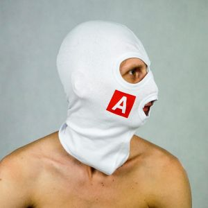BALACLAVA NO-NAME-FUCK WHITE/RED