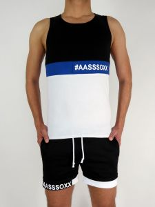A-SHIRT #AASSSOXX ORIGINAL BLACK-WHITE