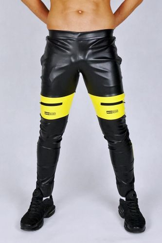 AASSEATER PVC LEATHER PANTS YELLOW1.JPG